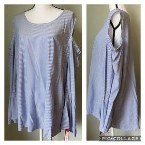 Merona cold shoulder stripe top size XXL